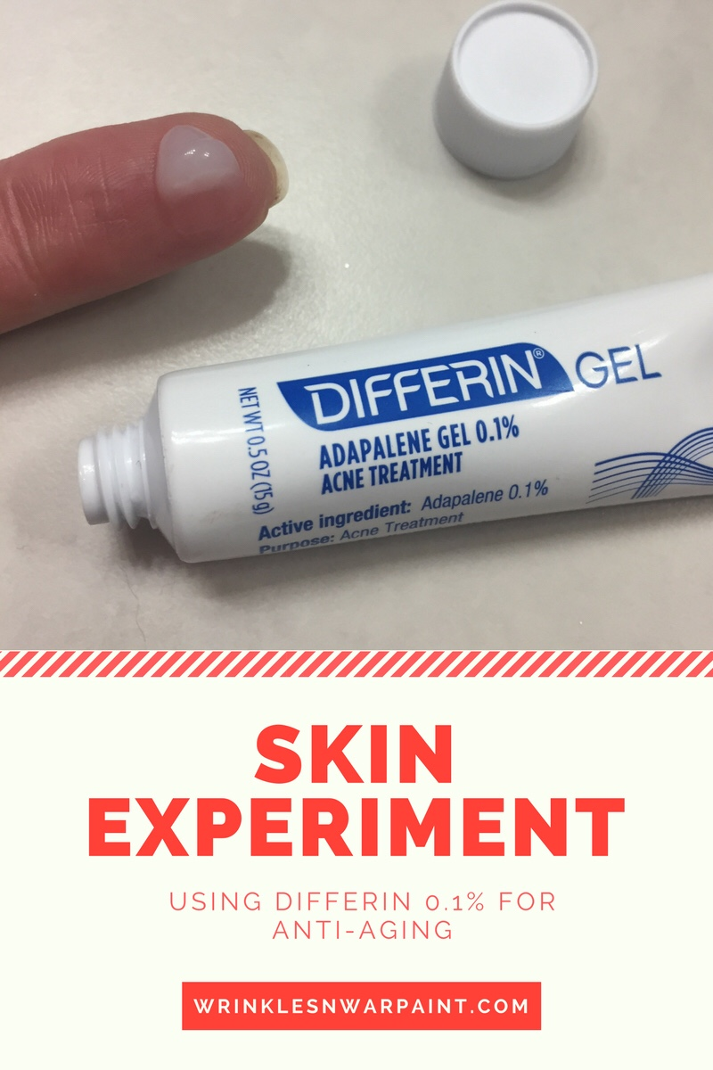 Skin Experiment Using Differin For Wrinkles Wrinkles War Paint
