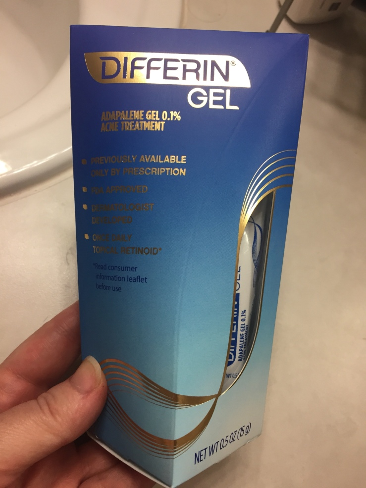 Over-The-Counter Differin 0.1% gel.