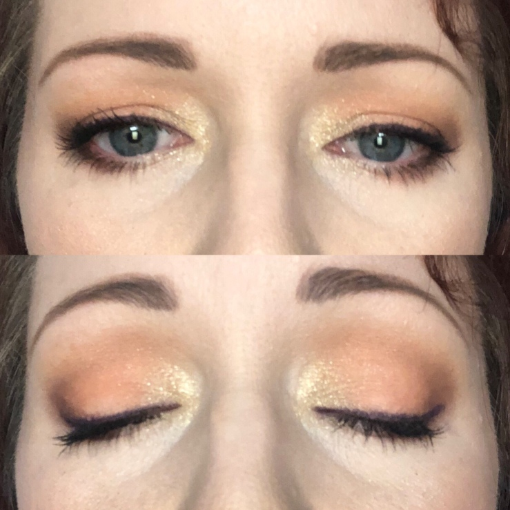 Makeup Revolution Re-loaded Iconic Division eyeshadow palette, greens, oranges, browns, eye looks