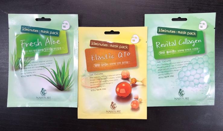 Naisture, sheet masks, Co Q10, Fresh Aloe, Collagen, Mask Box