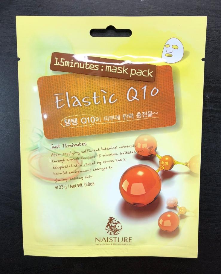 Naisture, sheet masks, 15 minutes, mask pack, Elastic Q10, Mask Box