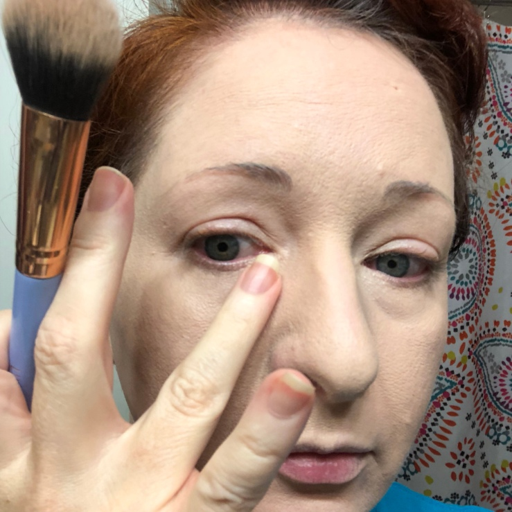 Wrinkles & War Paint, under eye, dark circles, concealer, how to, over 40, eye bags, color corrector, setting powder