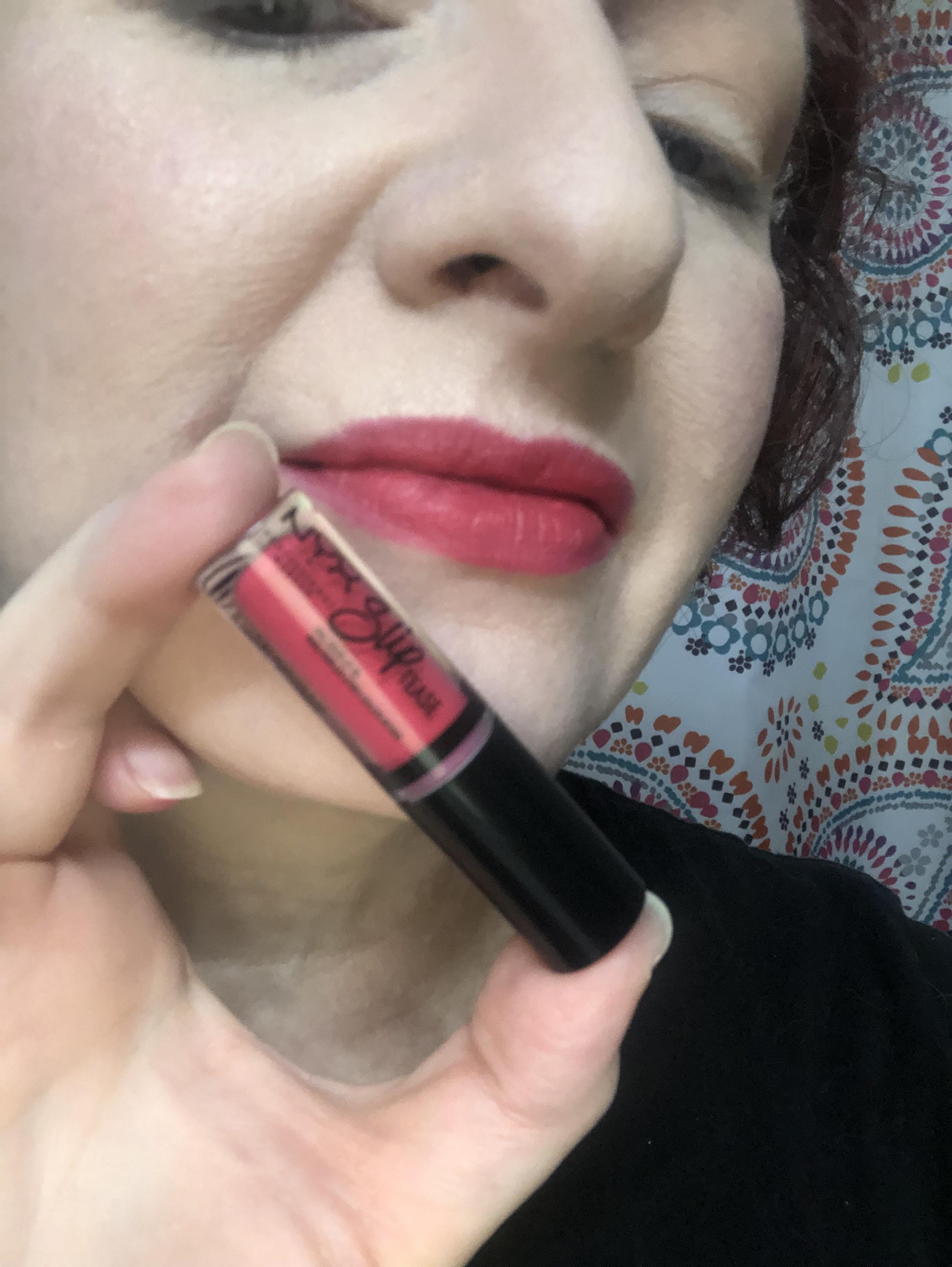 Nyx Sweet Chateau Slip Tease Lip Vault Strawberry Shake Swatch