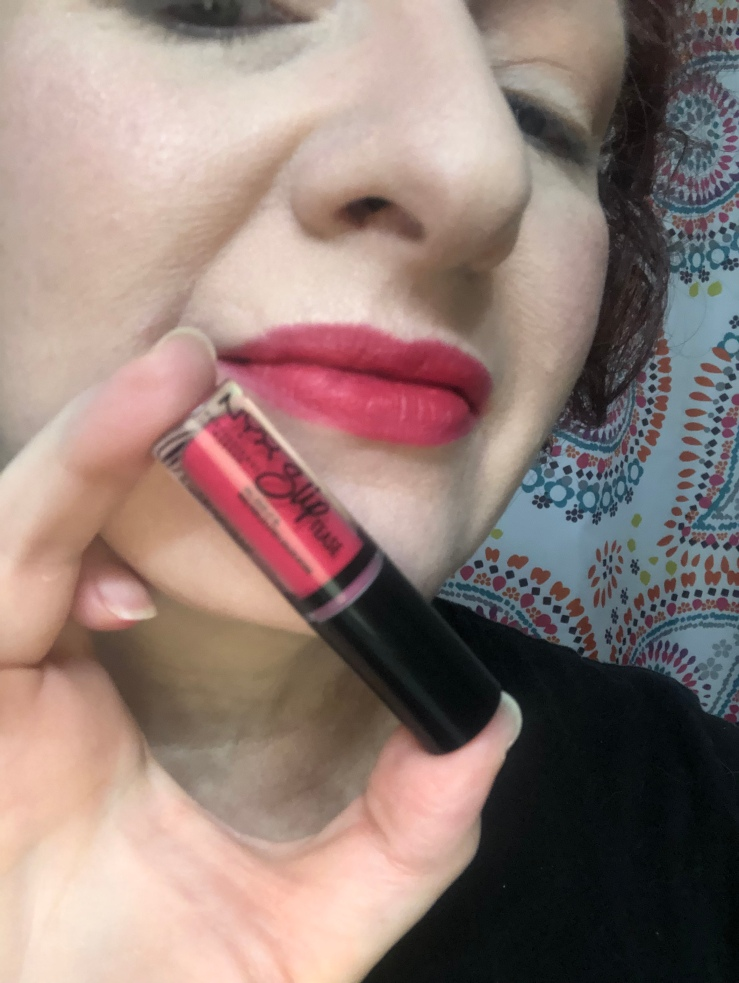 Nyx Sweet Chateau Slip Tease Lip Vault Strawberry Shake Swatch