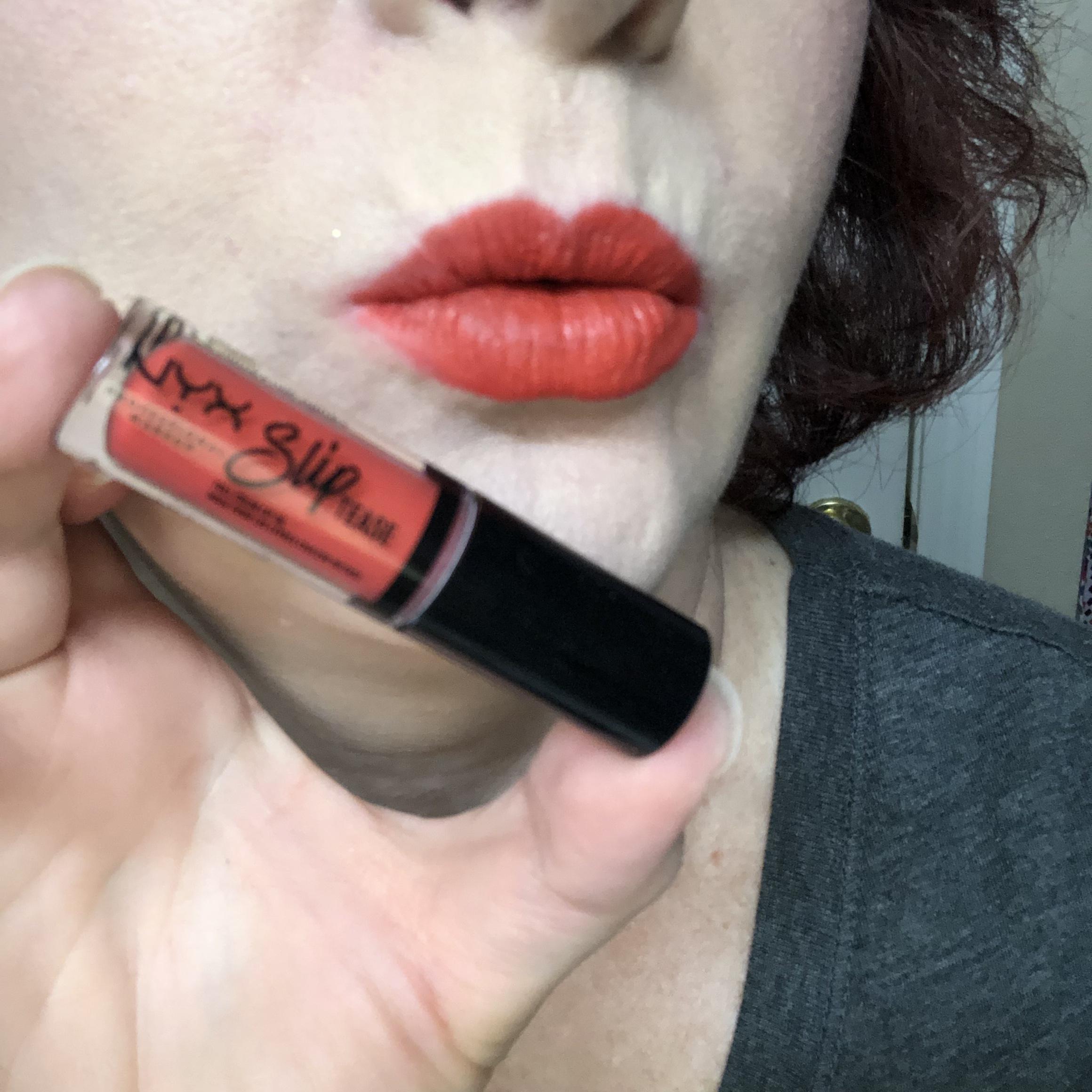 Nyx Sweet Chateau Slip Tease Lip Vault Tangerine Tango Swatch