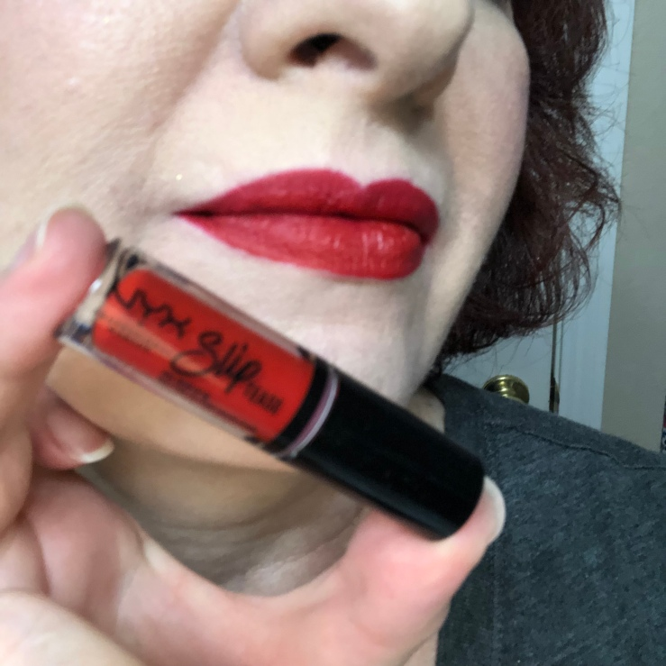 Nyx Sweet Chateau Slip Tease Lip Vault Cherry on Top Swatch