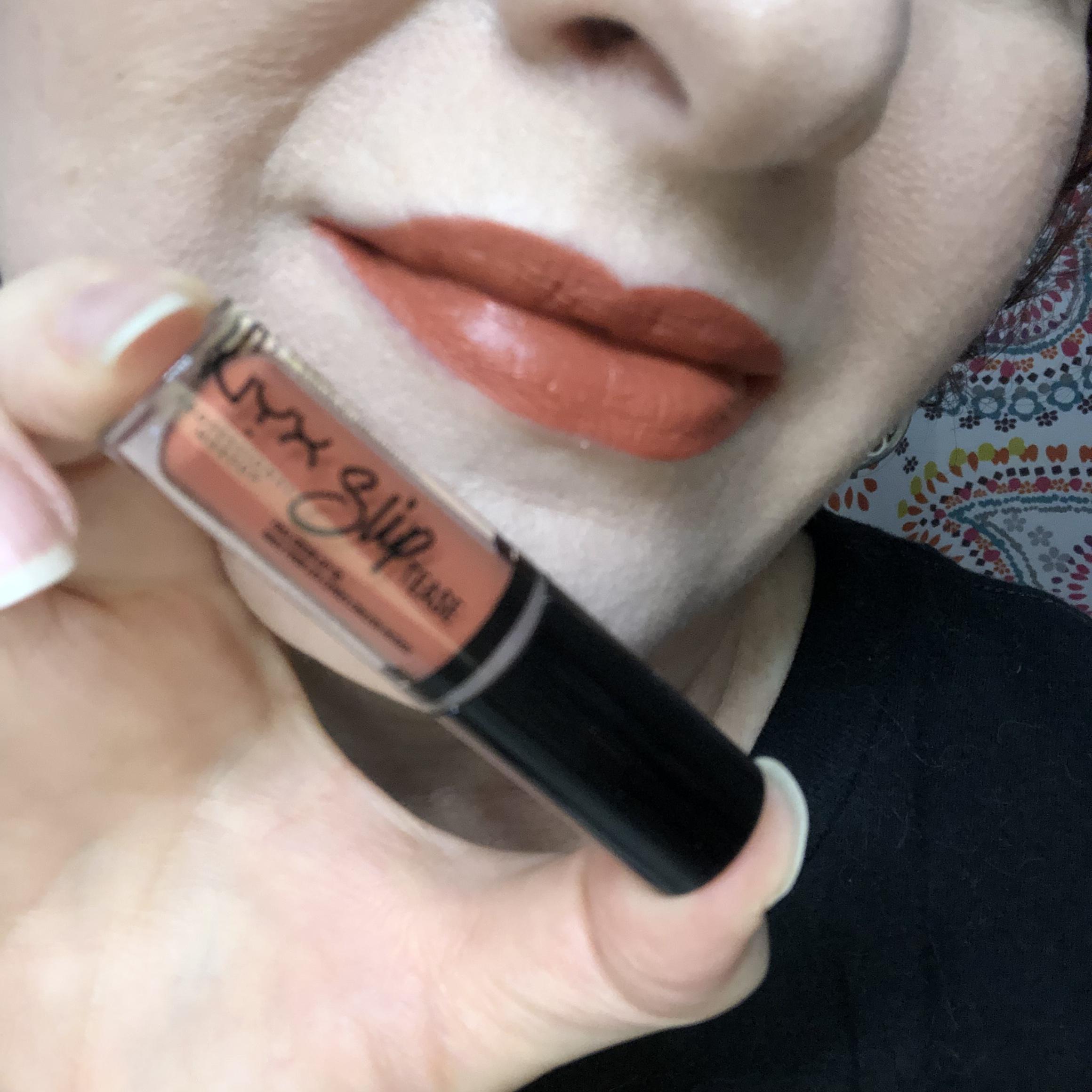 Nyx Sweet Chateau Slip Tease Lip Vault Cinnamoney Swatch