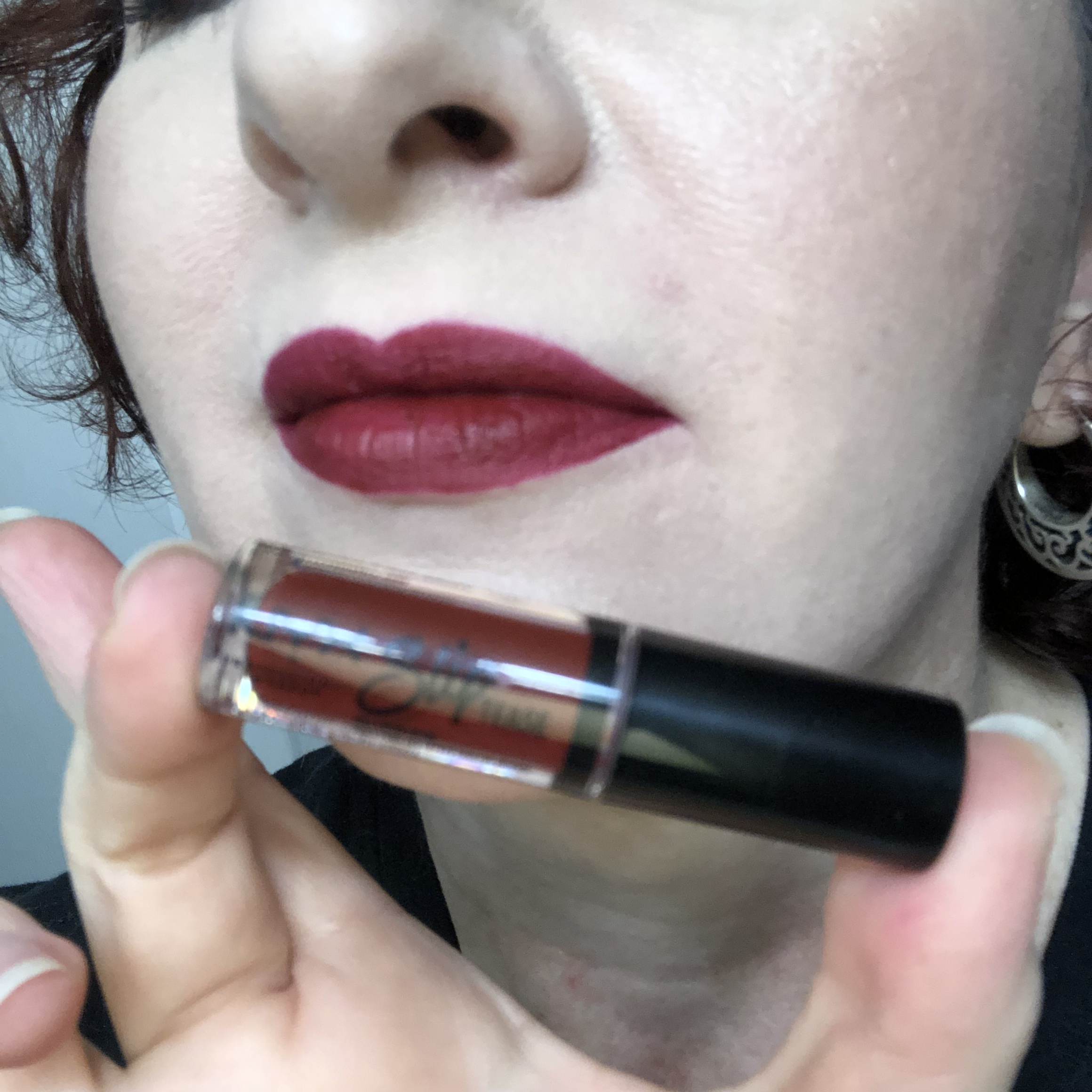 Nyx Sweet Chateau Slip Tease Lip Vault Something About Berry Swatch