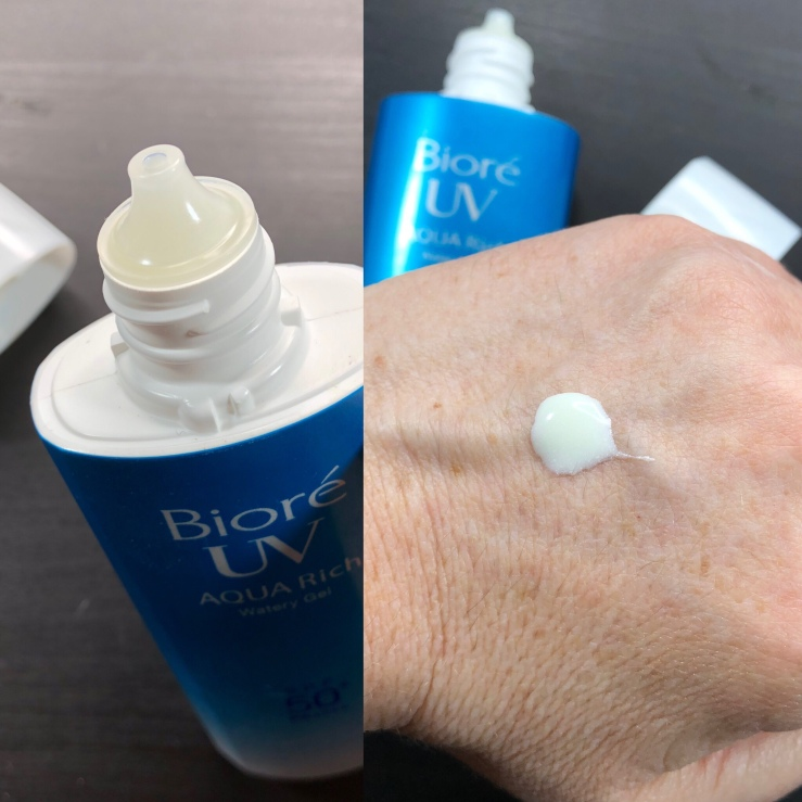 Biore Aqua Rich Watery Gel SPF 50+ PA++++, sunscreen, Asian skincare, wrinklesnwarpaint.com