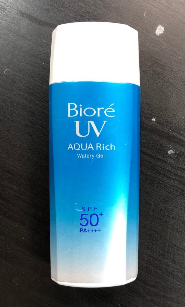 Biore Aqua Rich Watery Gel SPF 50+ PA++++, wrinklesnwarpaint.com
