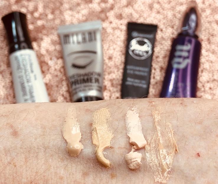 WrinklesNWarPaint.com, wrinkles, war paint, primers, pile of primers, makeup primer, face primer, makeup, beauty, eye primer, eyeshadow primer